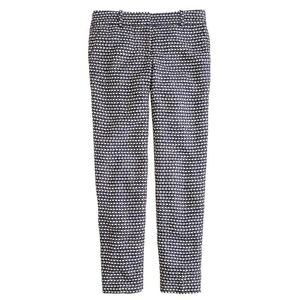 J.CREW Cafe Capri Cotton Tweed Patterned Trousers